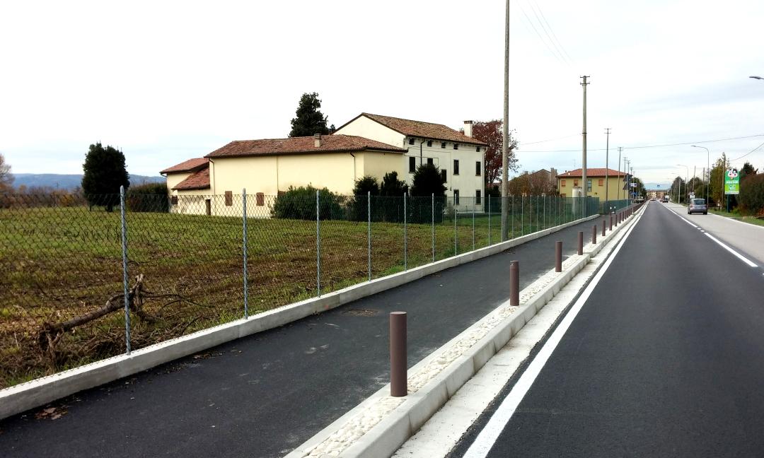 2014 - Pista ciclabile e messa in sicurezza S.P. Camisana a Grumolo delle Abbadesse (VI)