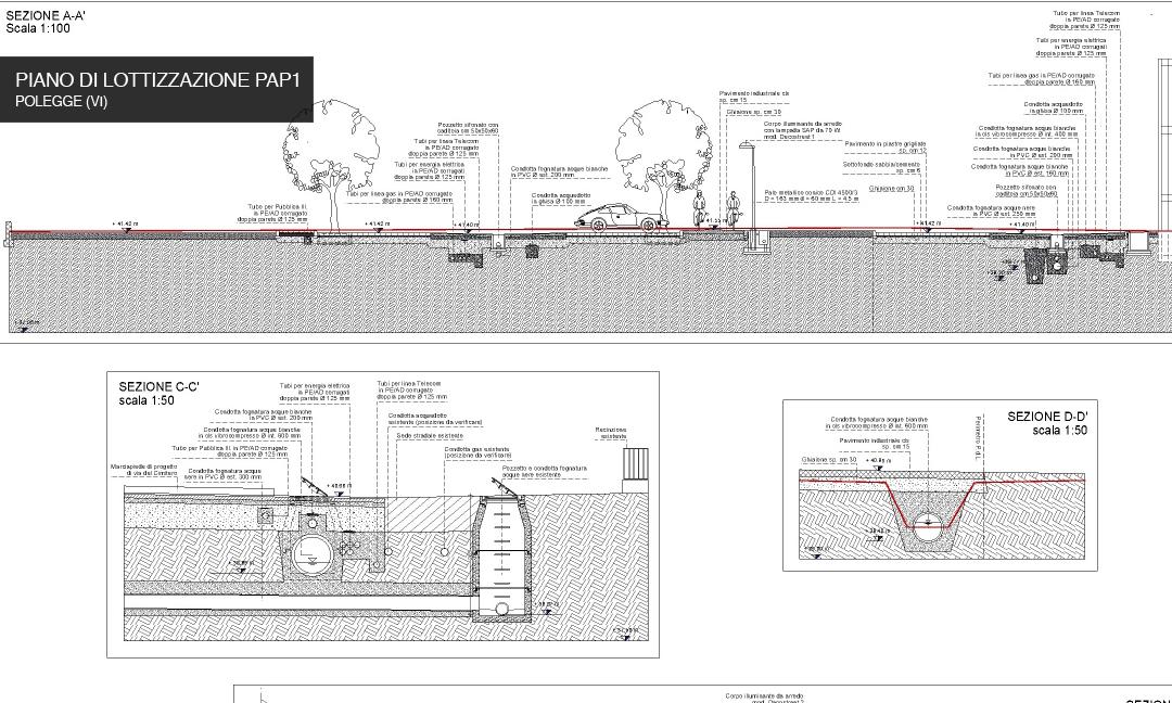 2011 - Opere di urbanizzazione Piano di lottizzazione PAP1 a Polegge (VI). APM (Albiero, Faresin, Sbalchiero)