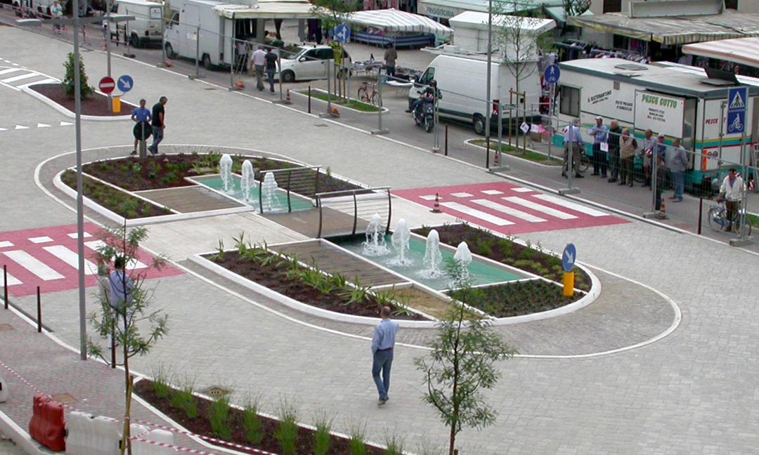 2009 - Riqualificazione aree centro storico a Torri di Quartesolo (VI). Concorso - Progetto 1° classificato.  APM (Albiero, Faresin, Sbalchiero) con Archistudio  (Fantin e Pangrazi)
