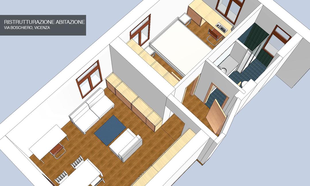 2012 - Ristrutturazione abitazione in Via Boschiero a Vicenza