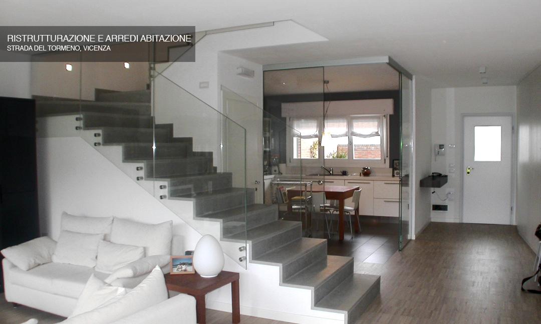 2008 - Ristrutturazione e arredi abitazione in Strada del Tormeno a Vicenza