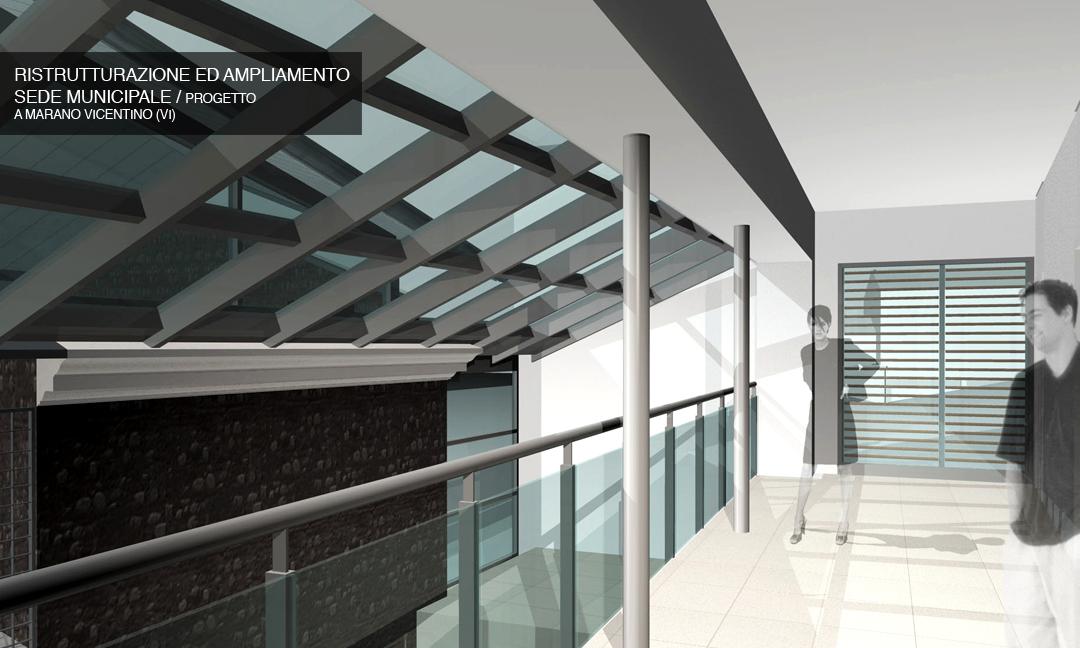 2006 - Ristrutturazione ed ampliamento sede municipale a Marano Vicentino (VI) / Progetto. APM (Albiero, Faresin, Sbalchiero)