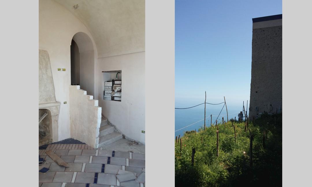 2015 - Restauro di edificio rurale ad uso casa vacanza  a Furore (SA - costiera amalfitana). Con arch. Andrea Florio