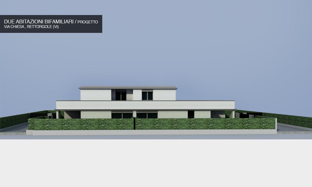 2014 - Due abitazioni bifamiliari in Via Chiesa  a Rettorgole (VI) / Progetto