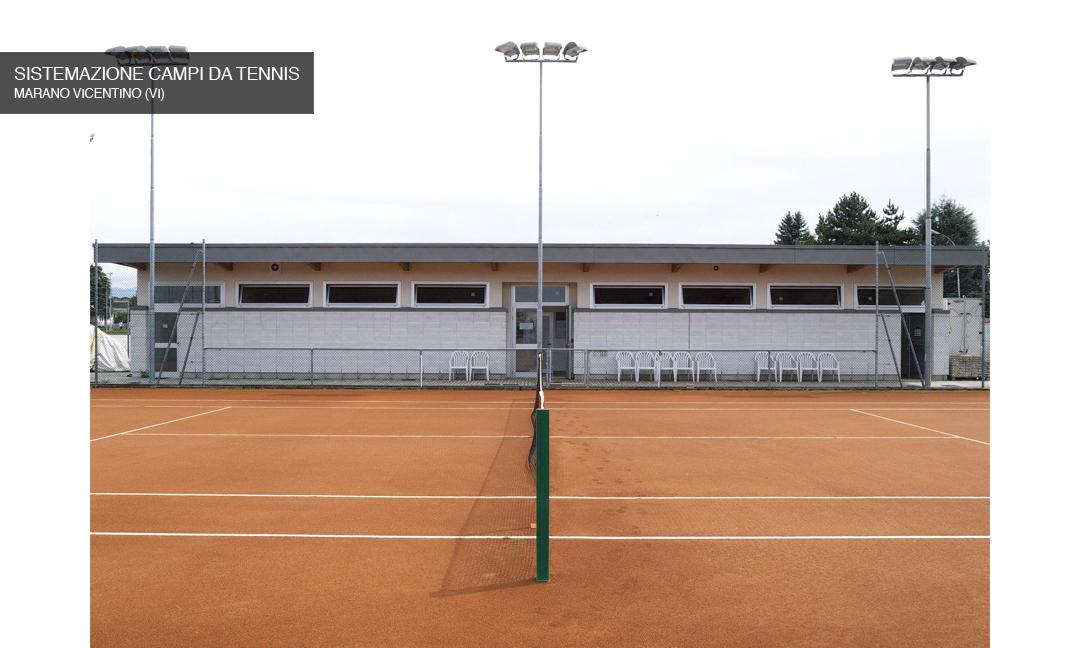 2010 - Nuovi spogliatoi e sistemazione campi da tennis a Marano Vicentino (VI). APM (Albiero, Faresin, Sbalchiero)