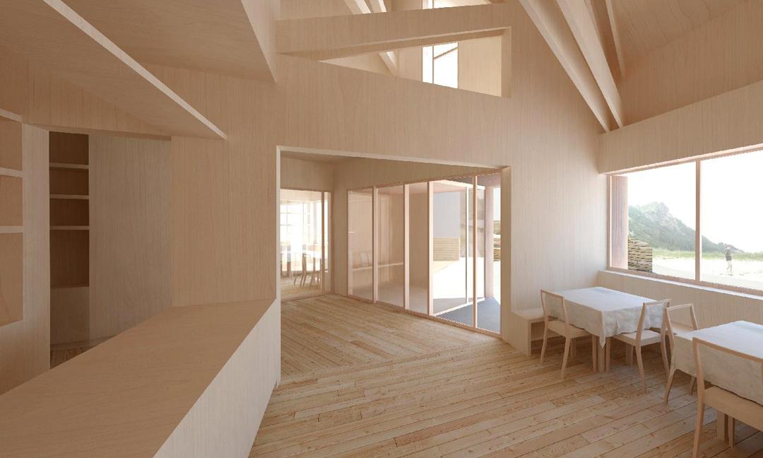 2012 - Malga Fosse a Passo Rolle a  Siror (TN)  / Progetto. Con prof. arch. Roberta Albiero e arch. Enrico Gandolfi