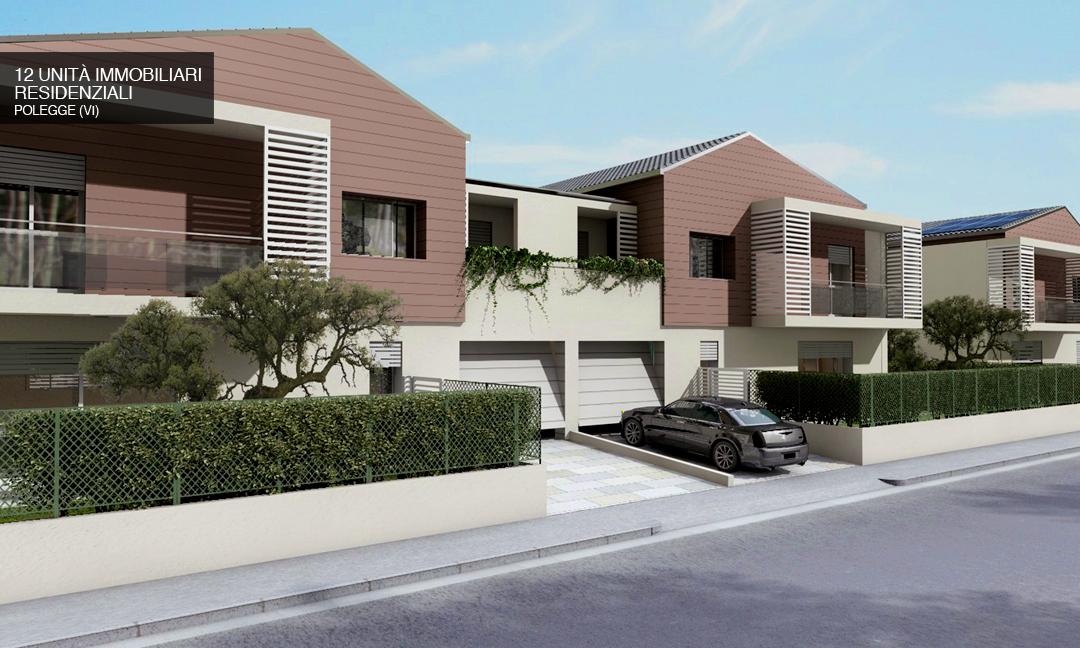 2014 - Costruzione di 12 unità immobiliari residenziali a Vicenza località Polegge